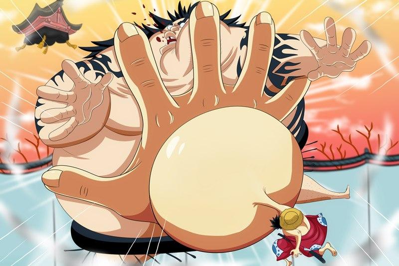 Luffy thổi phồng bàn tay