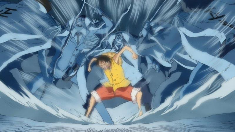 Luffy sử dụng được cả ba loại Haki