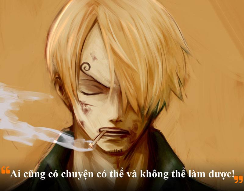 Những câu nói hay của Sanji trong One Piece