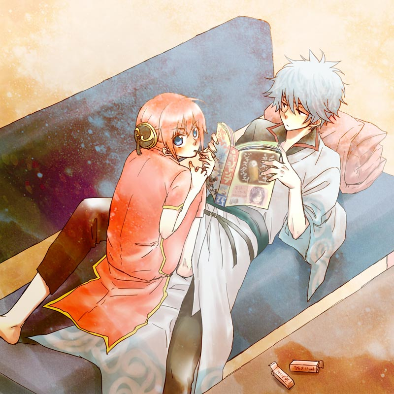 cặp đôi Anime manga sakata gintoki và kagura