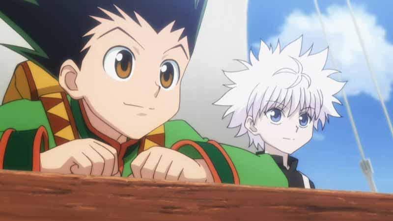 cặp đôi anime manga Killua Zoldyck và Gon