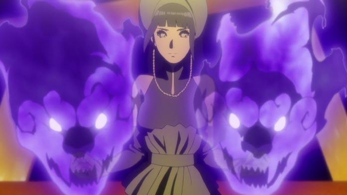 Hinata sử dụng chakra của Hamura