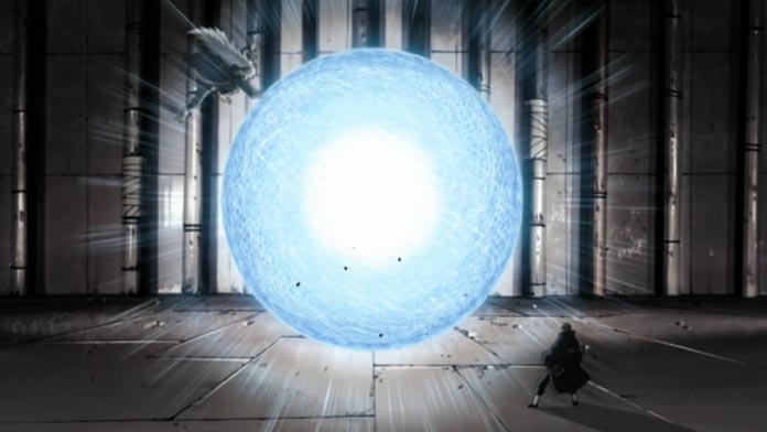 Jiraiya tân công Pain bằng kỹ năng mạnh nhất của mình