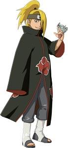 Ngoại hình của Deidara sau khi gia nhập Akatsuki