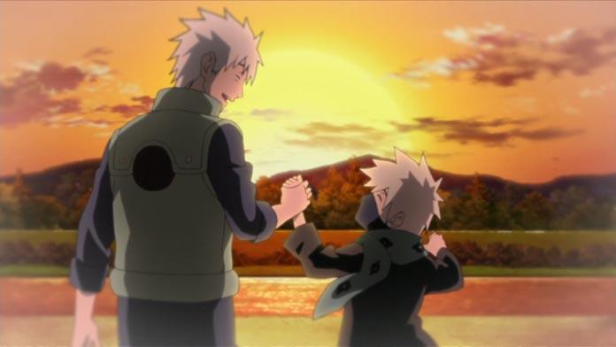Sakumo dắt con trai về nhà
