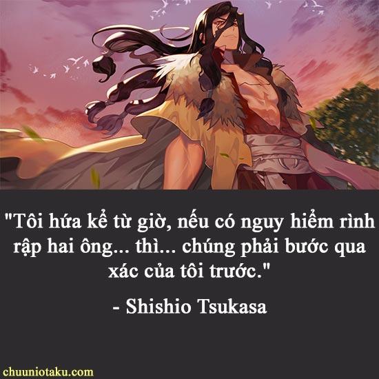Những câu nói hay của Shishio Tsukasa trong Dr Stone