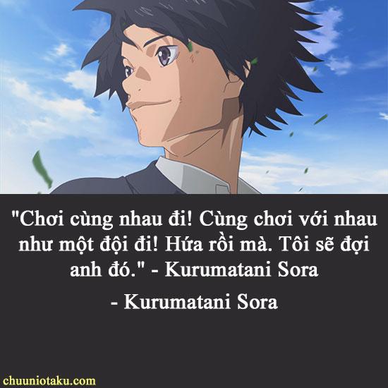 Câu nói hay của Kurrumatani Sora trong Ahiru no Sora