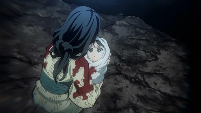 Inosuke lúc nhỏ với mẹ.