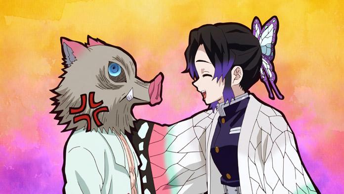 Inosuke tức giận vì lời động viên của Shinobu.