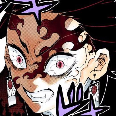 Ngoại hình của Tanjirou khi là quỷ