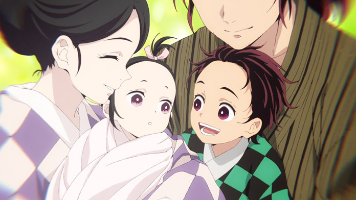 Tanjiro và em gái mới sinh Nezuko